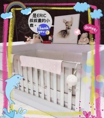林心如把女兒的嬰兒房布置成這樣 簡直太美了