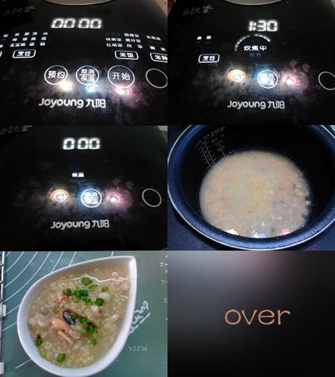 乾貝淡菜薏仁小米粥(多圖)