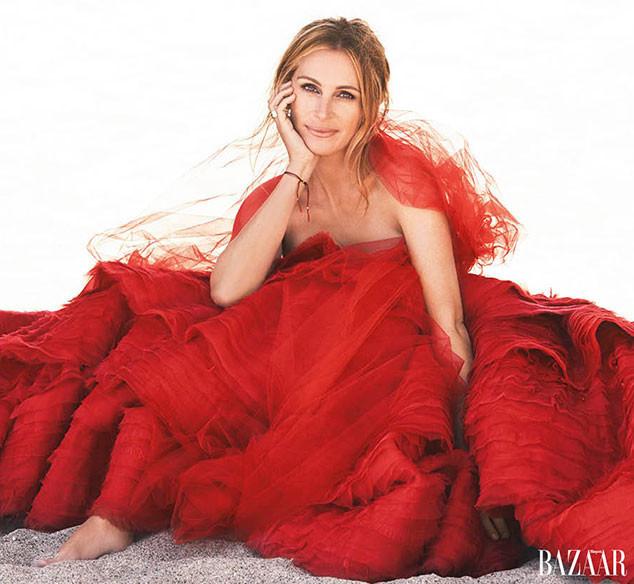 50歲茱莉婭·羅伯茨登雜誌封面 再現經典笑容(多圖)