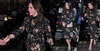 孕妇不怕冷?凯特王妃下雪天穿高跟还露腿!(组图)