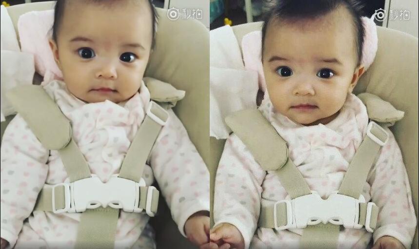 熊黛林的双胞胎女儿长得好神奇,两张脸完全不一样