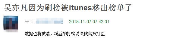 因粉丝刷榜,吴亦凡新曲被itunes踢出榜单!网友:太丢人